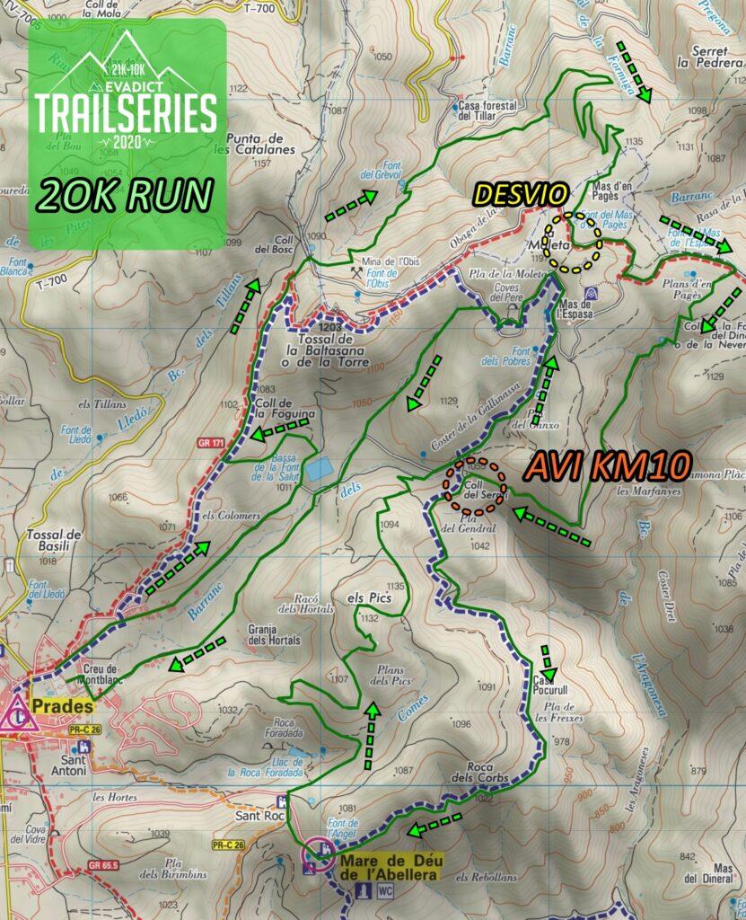 MAPA TRAIL PRADES 2020