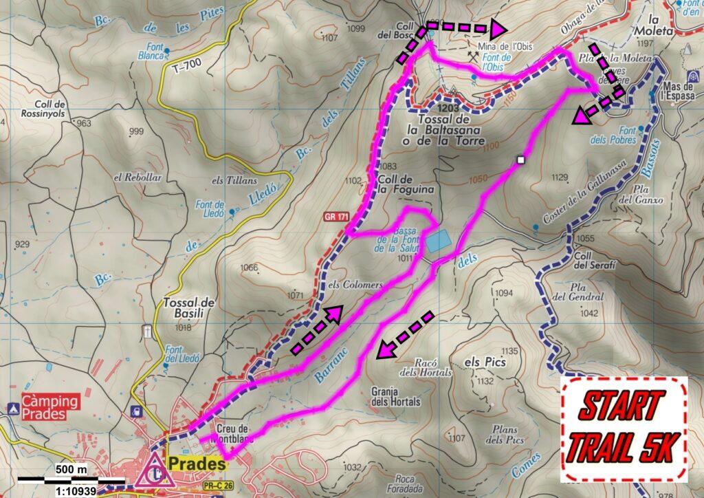 MAPRA STRAT TRAIL PRADES 5K