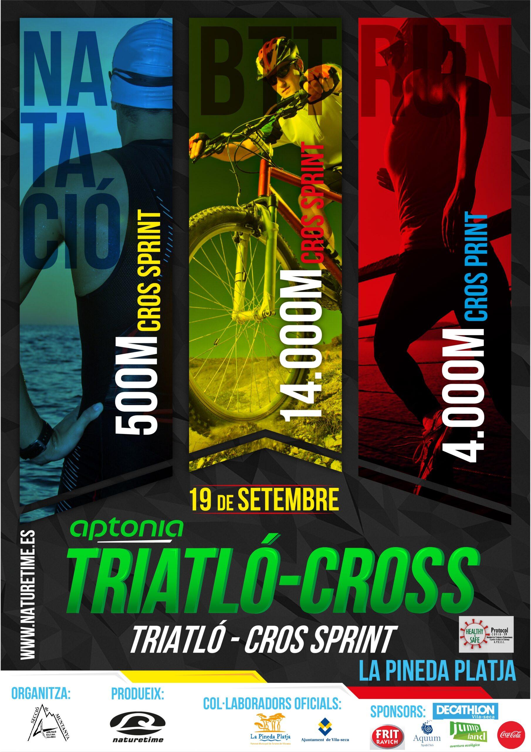 poster triatlon cros pineda